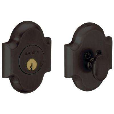 Oil Rubbed Bronze Single Cylinder Door Prep Arch Deadbolt