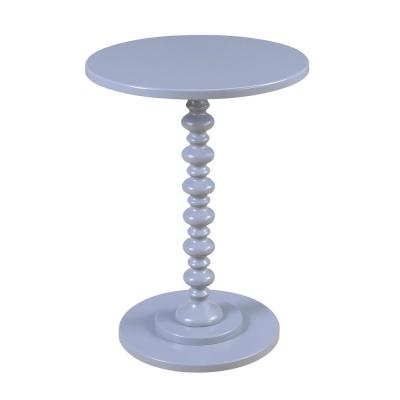 Palm Beach Gray Spindle End Table