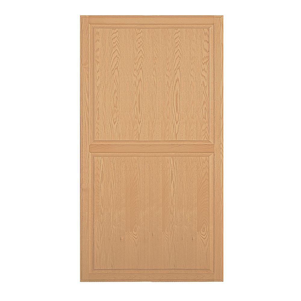 Solid Oak Double End Side Panel for 24 in. D Executive Wood Locker in Light Oak