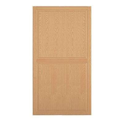 Solid Oak Double End Side Panel for 24 in. D Executive Wood Locker in Light Oak