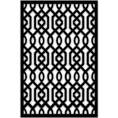 1/4 in. x 32 in. x 4 ft. Black Azzaria Vinyl Decor Panel