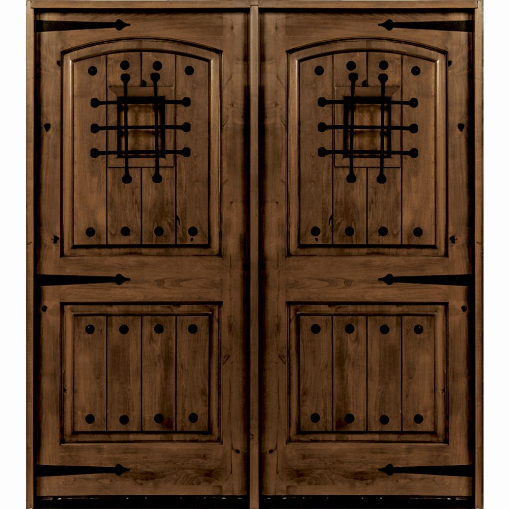 Home Depot Wood Doors: Krosswood Doors 72 In. X 96 In. Mediterranean Knotty Alder