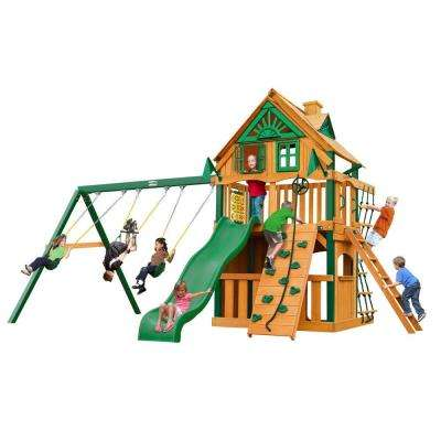 Chateau Clubhouse Treehouse Swing Set with Timber Shield