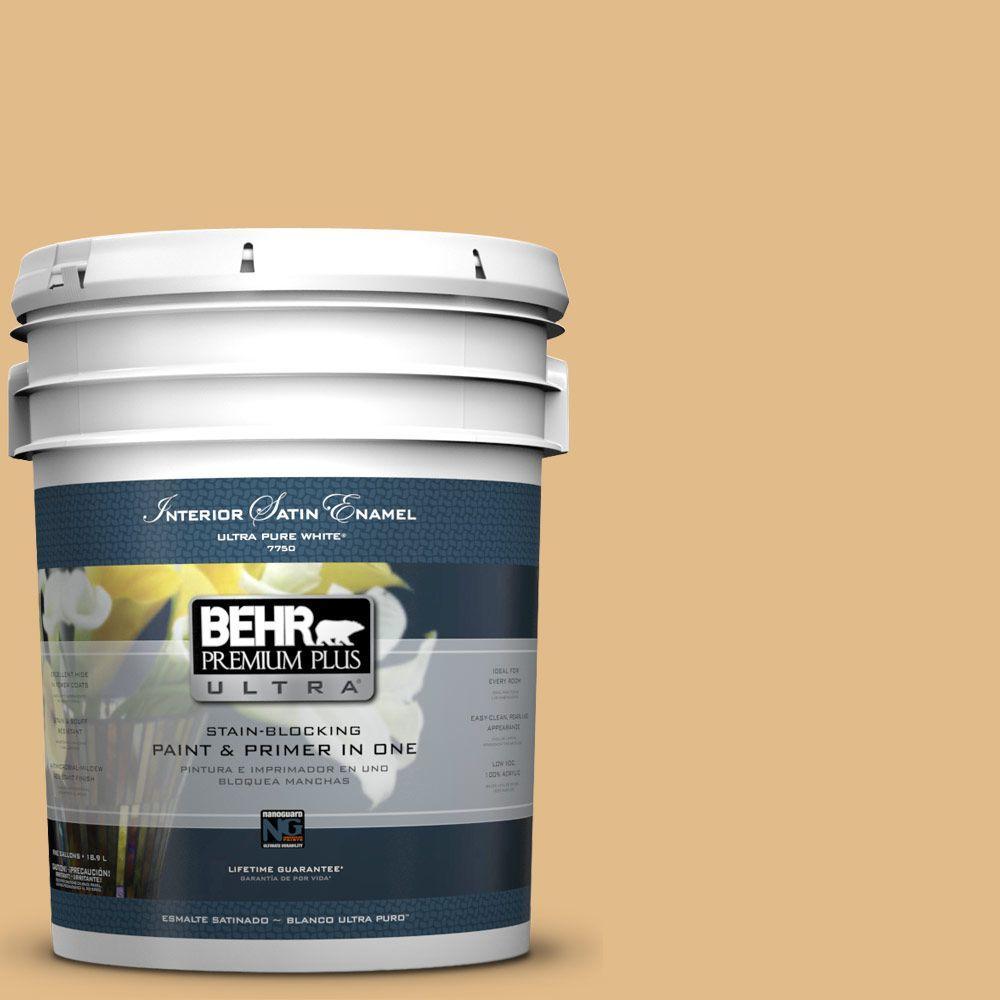 5-gal. #M280-4 Royal Gold Satin Enamel Interior Paint