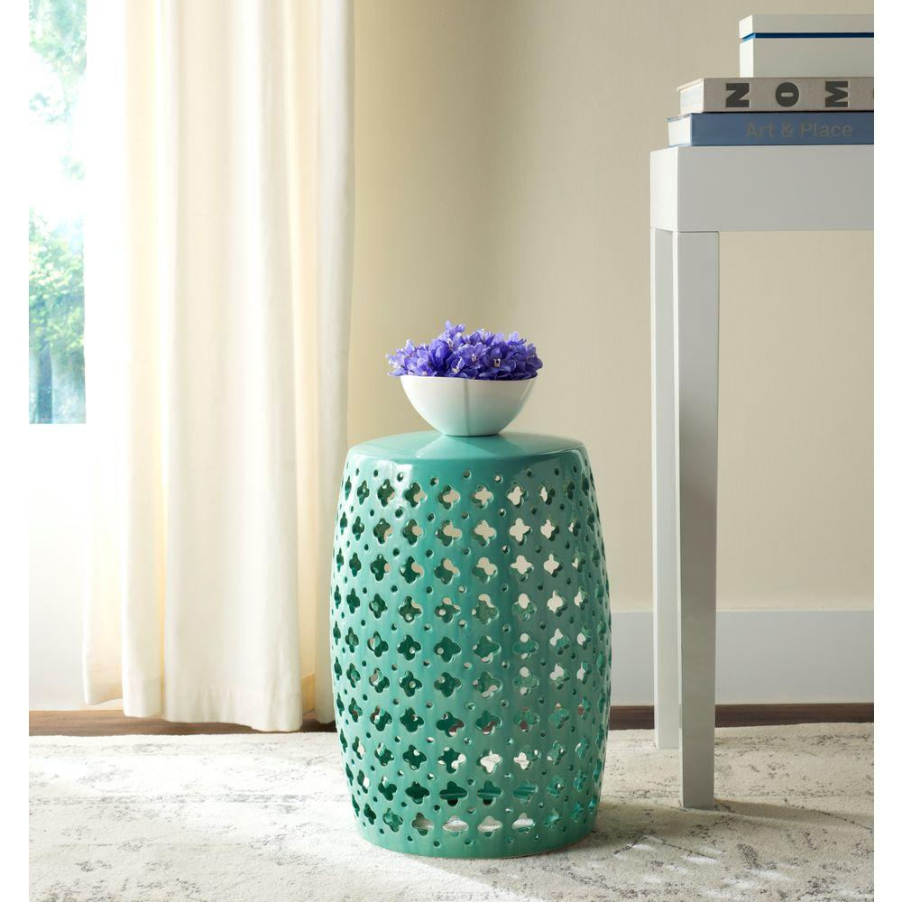 Safavieh Lacey Light Blue Patio Stool Acs4531c The Home