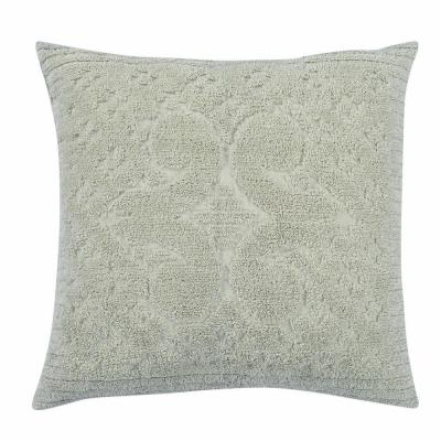 Ashton Collection in Medallion Design Sage Euro 100% Cotton Tufted Chenille Sham