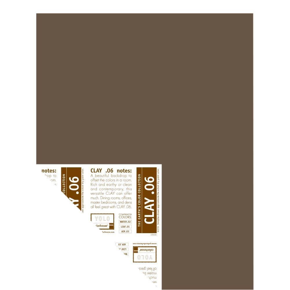 YOLO Colorhouse 12 in. x 16 in. Clay .06 Pre-Painted Big Chip Sample