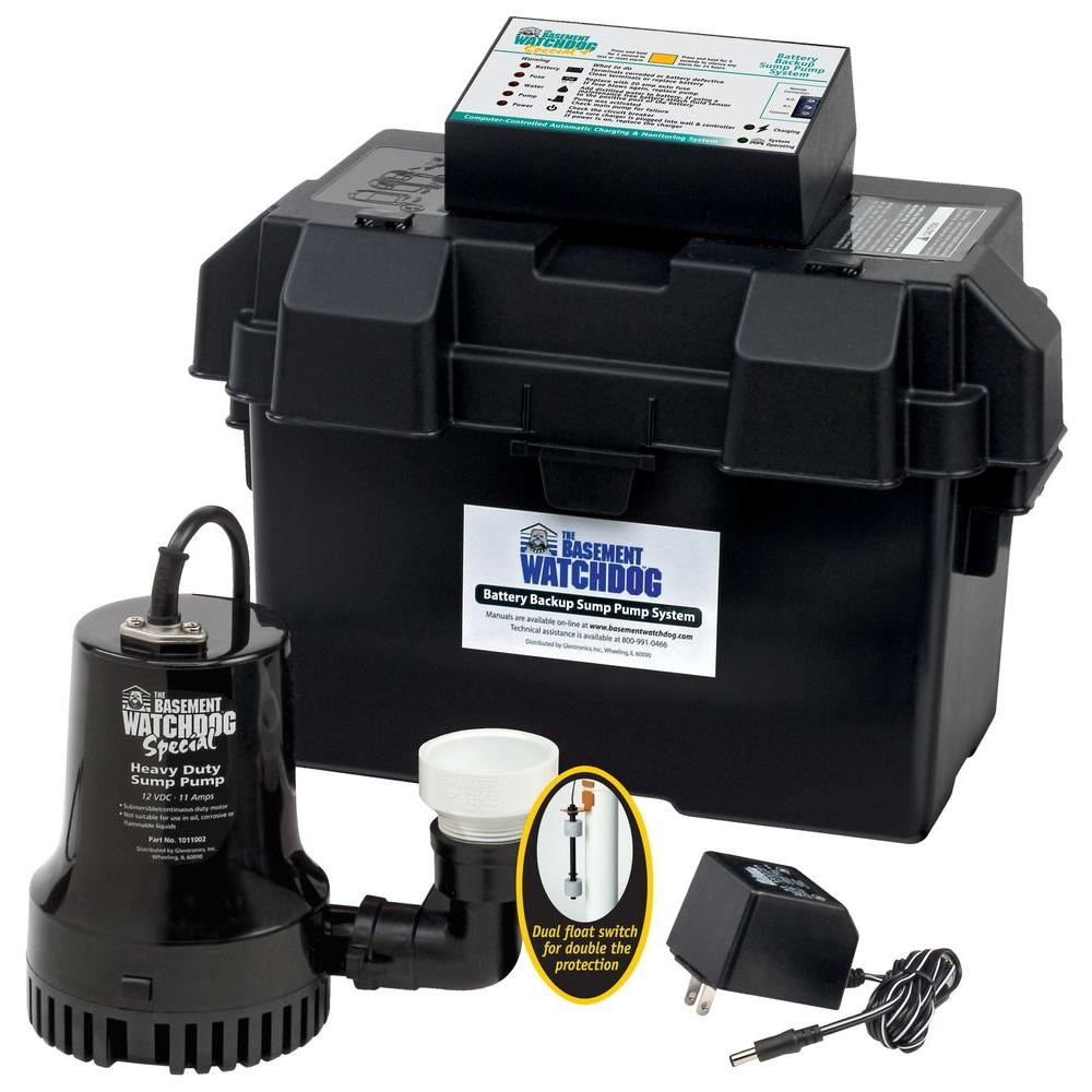 Glentronics 0.33 HP Special + Battery Backup Sump Pump Sy...