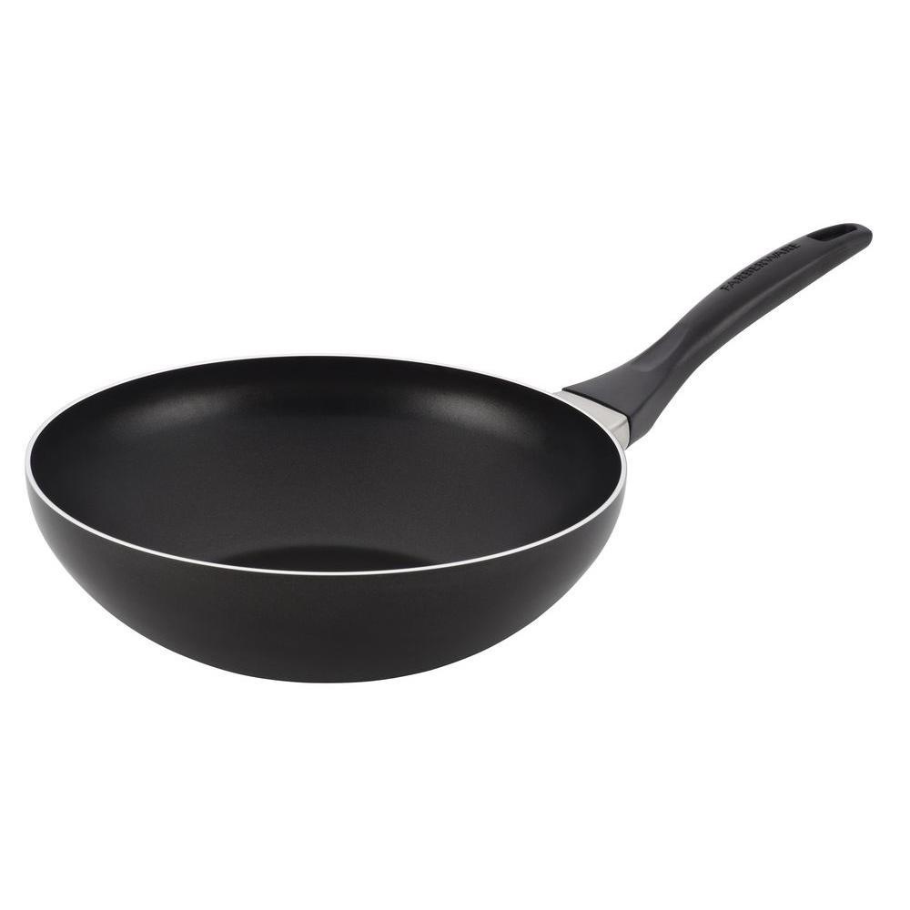 Farberware Dishwasher Safe Nonstick 10.5 in. Open Stir Fry in Black