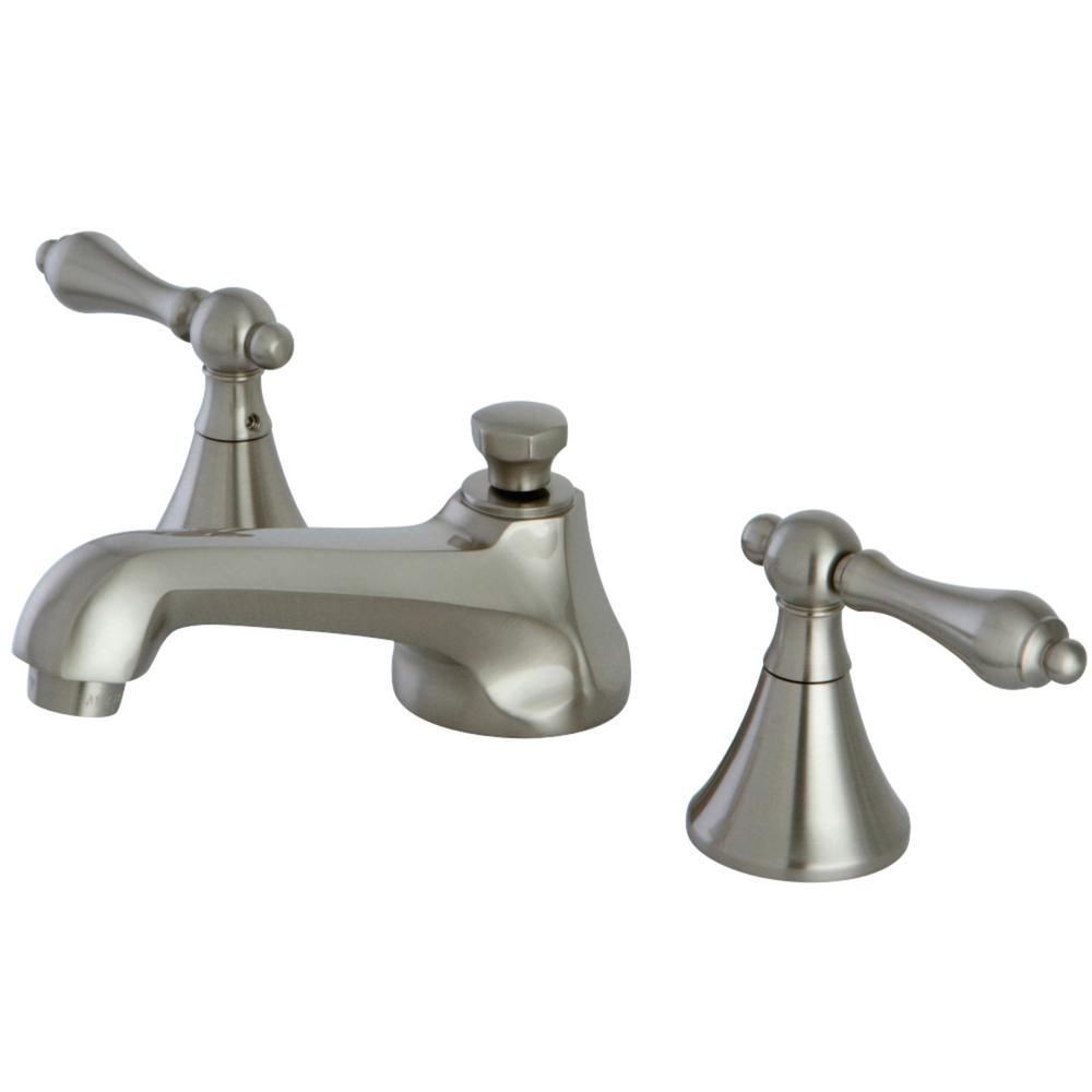Kingston Brass Modern 8 In. Widespread 2-Handle Bathroom Faucet In Brushed Nickel-HKS4478AL