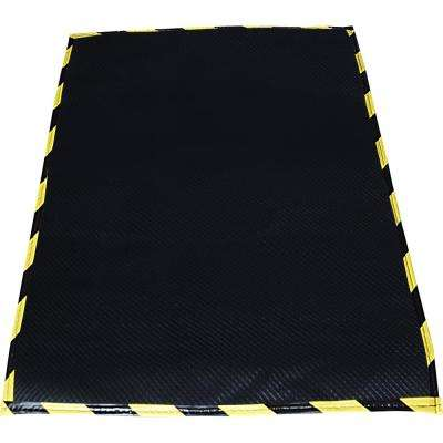Black 32 in. x 102 in. Felt Anti-Fatigue Mat with Grid