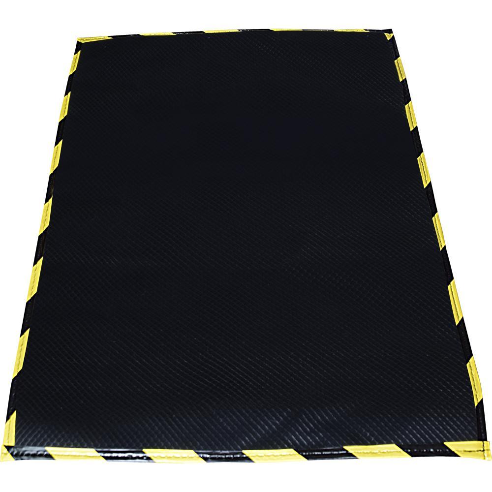 Black 32 in. x 102 in. Felt Anti-Fatigue Mat with Grid