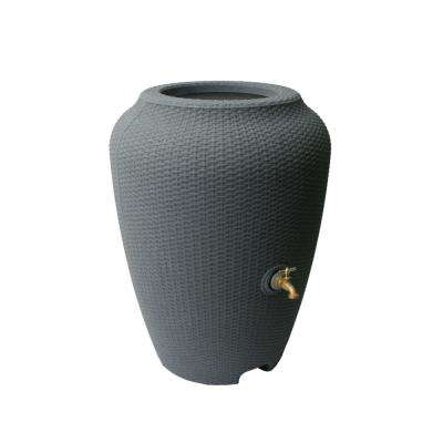 Wicker 50 Gal. Rain Barrel Charcoal