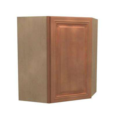 24x30x12 in. Dartmouth Assembled Wall Angle Cabinet with 1 Door Left Hand in Cinnamon