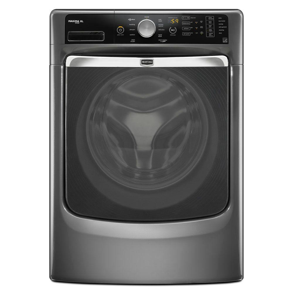 Maytag Maxima XL 4.3 cu. ft. High-Efficiency Front Load Washer with Steam in Granite, ENERGY STAR-DISCONTINUED