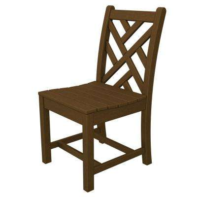 Chippendale Teak Patio Dining Side Chair