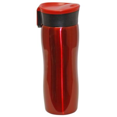 14 oz. Red Double Wall Stainless Steel Vacuum Tumbler with Push Button (6-Pack)