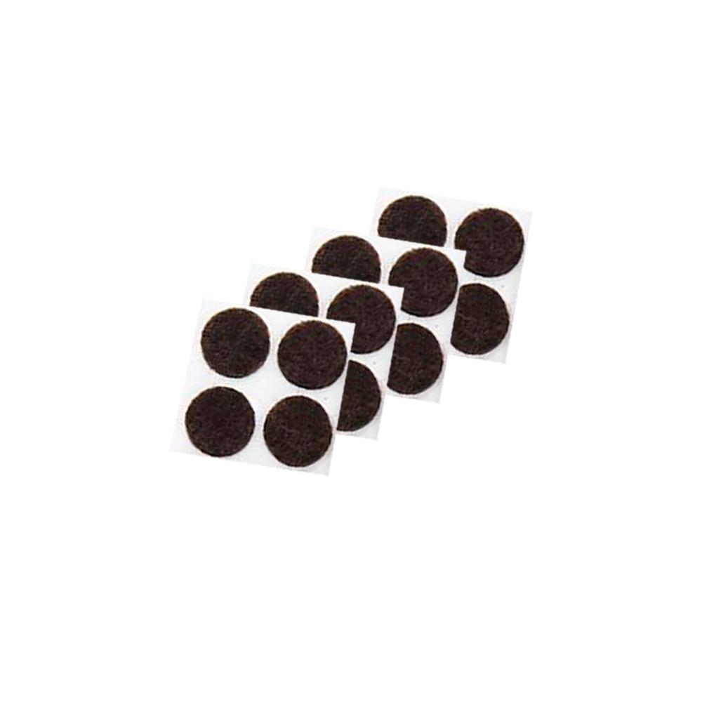 3/4 in. Medium Duty Self-Adhesive Brown Felt Pads (20-Pack)
