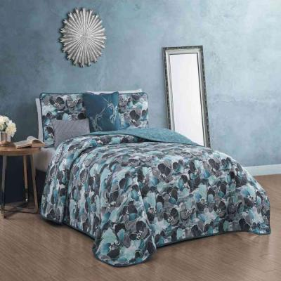 Simone 5-Piece Teal Queen Quilt Set