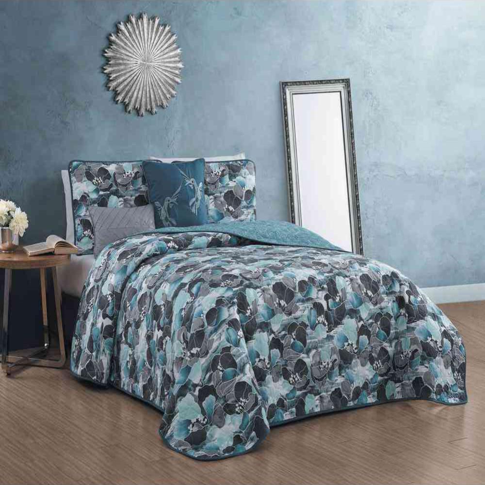Artesia Designs Simone 5-Piece Teal Queen Quilt Set SIE5QTQUENGHTL