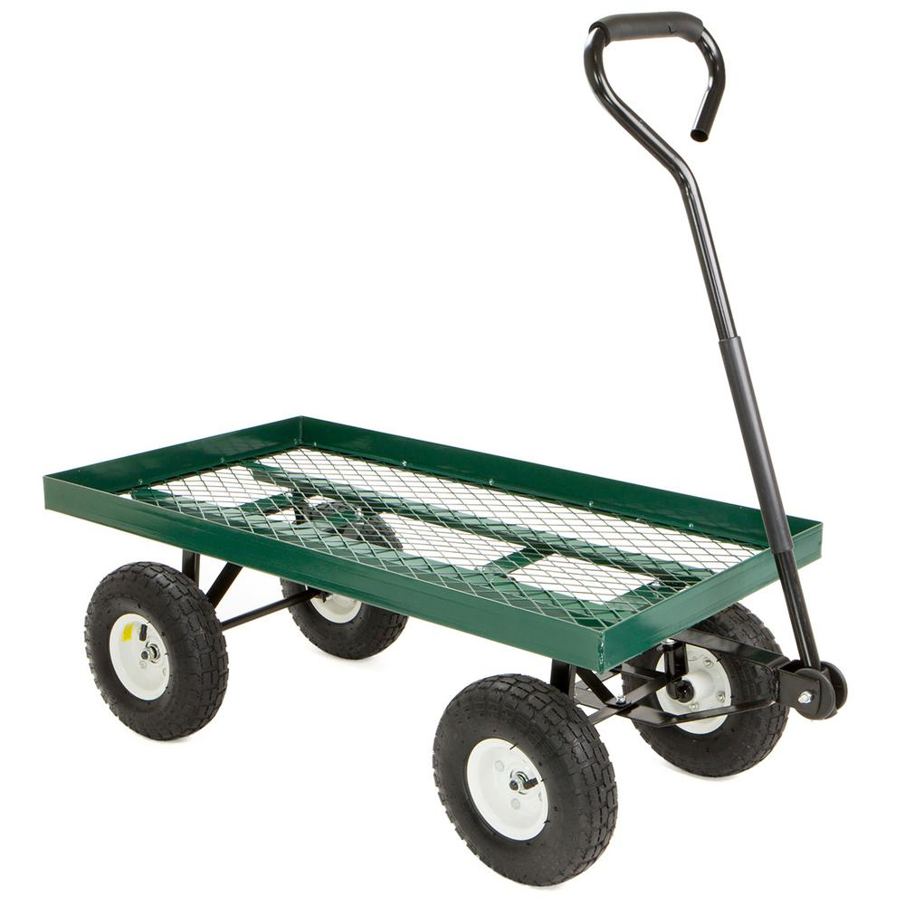 Load Capacity All Terrain Nursery Farm Garden Yard Cart Wagon