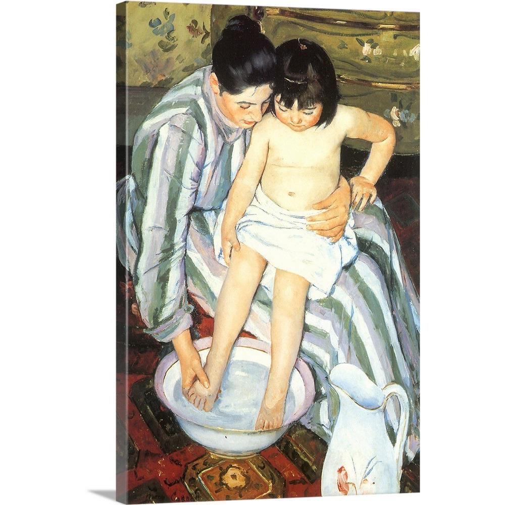 """The Bath"" by Mary Cassatt Canvas Wall Art"