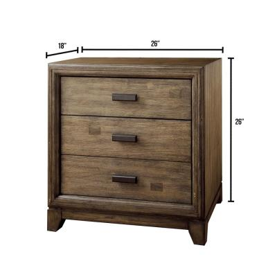 Antler Natural Ash Transitional Style Night Stand