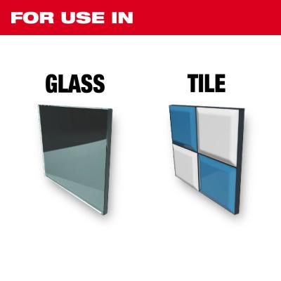 Carbide Glass and Tile Bit Set (4-Pack)