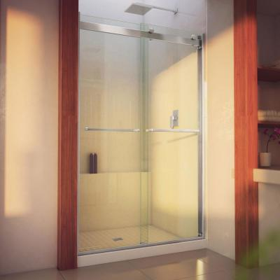 Essence-H 44 to 48 in. x 76 in. Semi-Frameless Bypass Sliding Shower Door in Brushed Nickel