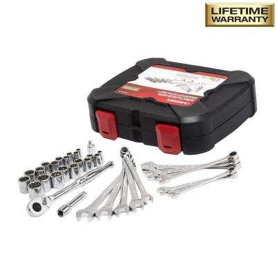 1/4 in. and 3/8 in. Drive Universal Mechanics Tool Set (33-Piece)