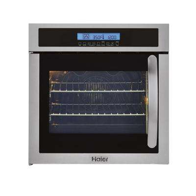 24 in. Single Electric Left-Swing Door Wall Oven with Convection in Stainless Steel