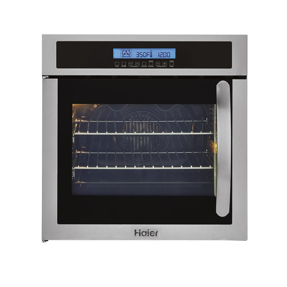 24 in. Single Electric Left-Swing Door Wall Oven with Convection in