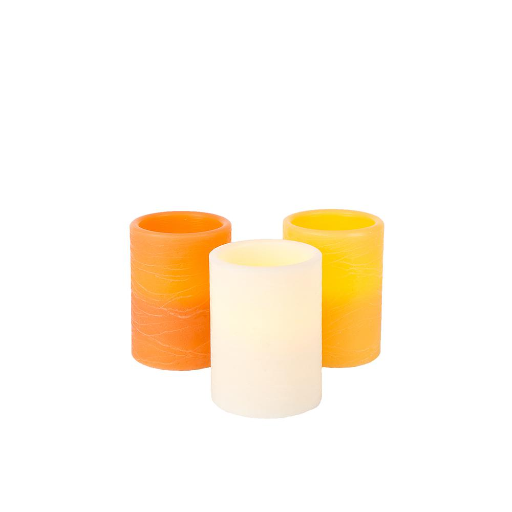 Home Accents Holiday 3 in. x 4 in. Battery Operated Harvest LED Candles - Assorted Colors