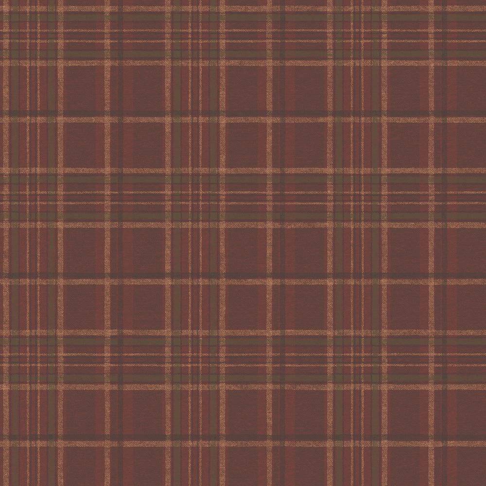 Chesapeake Helmsley Red Tartan Wallpaper Sample-TOT49401SAM - The ...