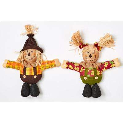 16 in. Short Leg Standing Scarecrow (Set of 2)
