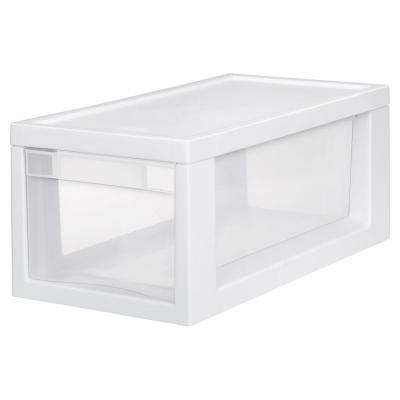17.125 in. D x 8 in. W x 7 in. H 6-Compartment Plastic Narrow Modular Drawers