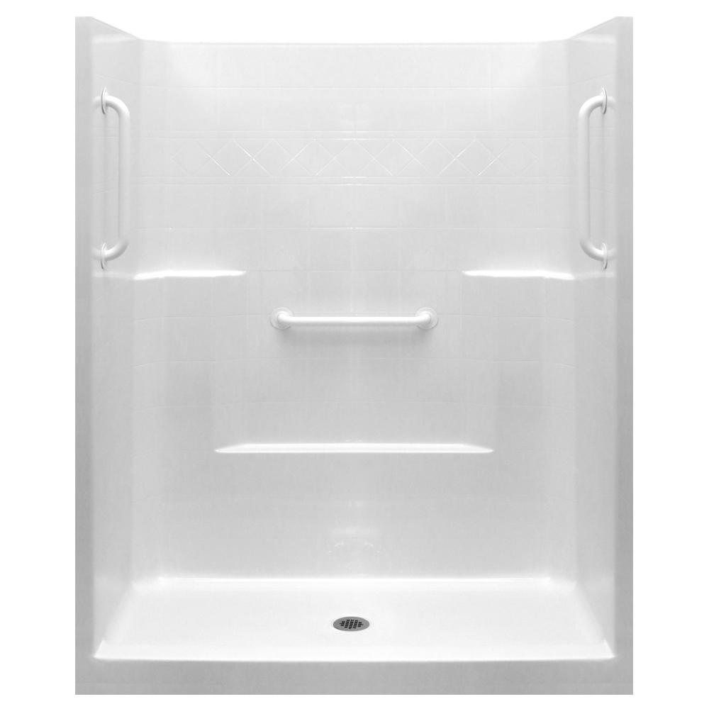 Ella Ultimate-W 33 in. x 60 in. x 77 in. 1-Piece Low Thre...