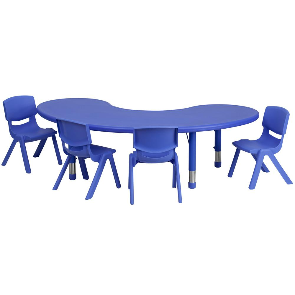Blue 5-Piece Table and Chair Set