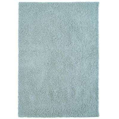 Custom Shag Seafoam Blue 5 ft. x 7 ft. Indoor Area Rug