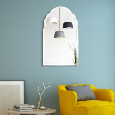 Medium Arch Clear Beveled Glass Contemporary Mirror (40 in. H x 24 in. W)