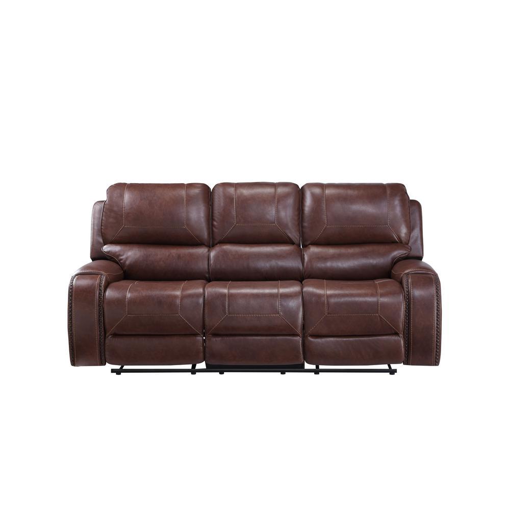 Keily Brown Manual Recliner Sofa
