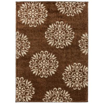 Mohawk Home Exploded Medallions Dark Earth 3 ft. 4 in. x 5 ft. 6 in. Indoor Area Rug