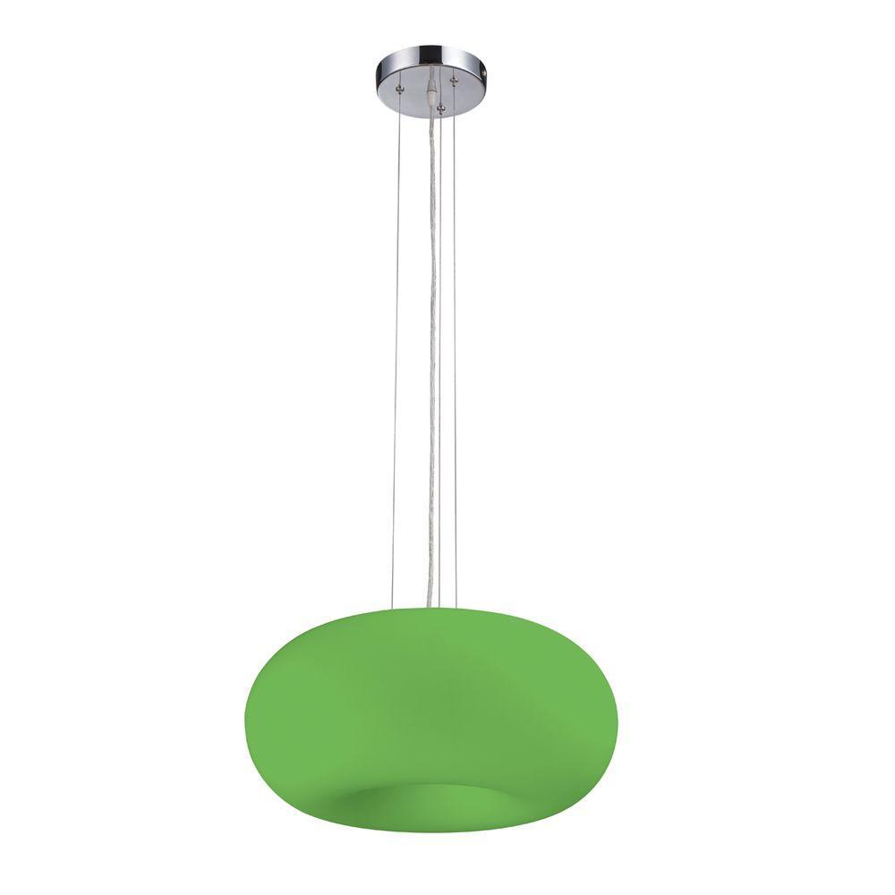 Eurofase Pop-2 Collection 3-Light Green Convertible Flushmount/Pendant