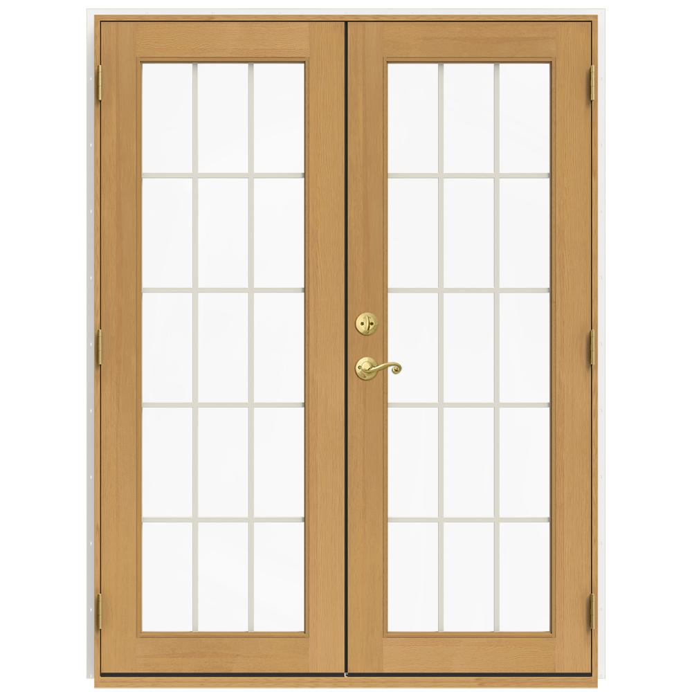 60 in. x 80 in. W-2500 White Clad Wood Left-Hand 15