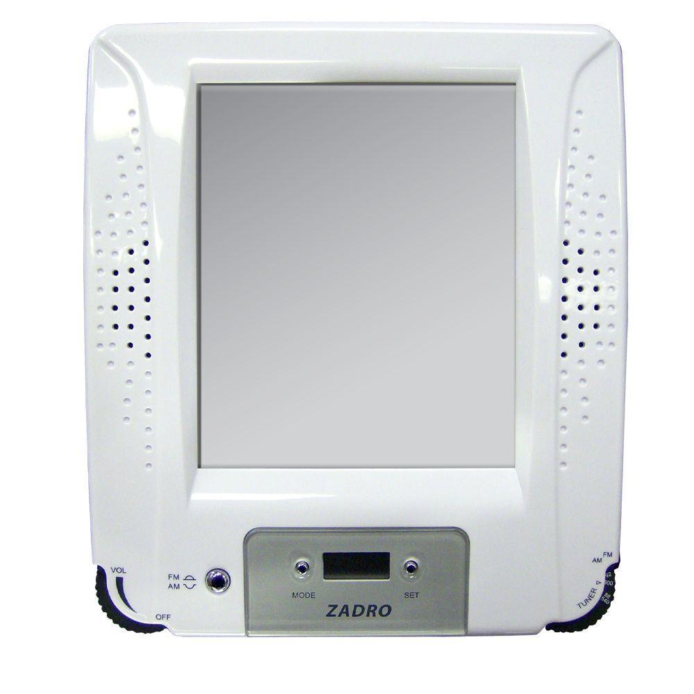 Zadro Z'Fogless Stereo Shower Radio in White