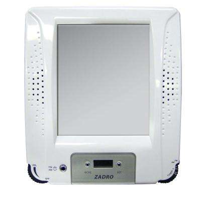 Z'Fogless Stereo Shower Radio in White