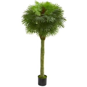 Indoor/Outdoor Fan Palm Artificial Tree UV Resistant