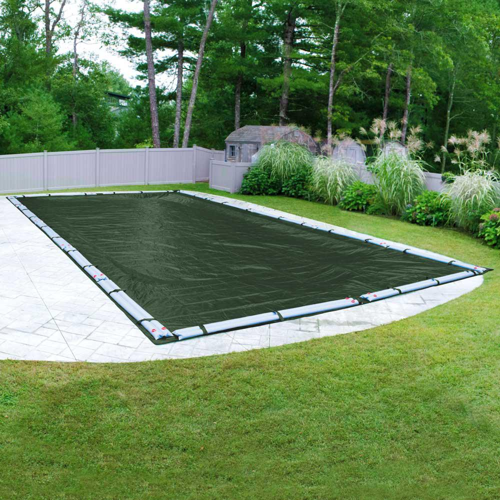 Robelle Dura-Guard 16 ft. x 36 ft. Rectangular Green Solid In-Ground Winter Pool Cover