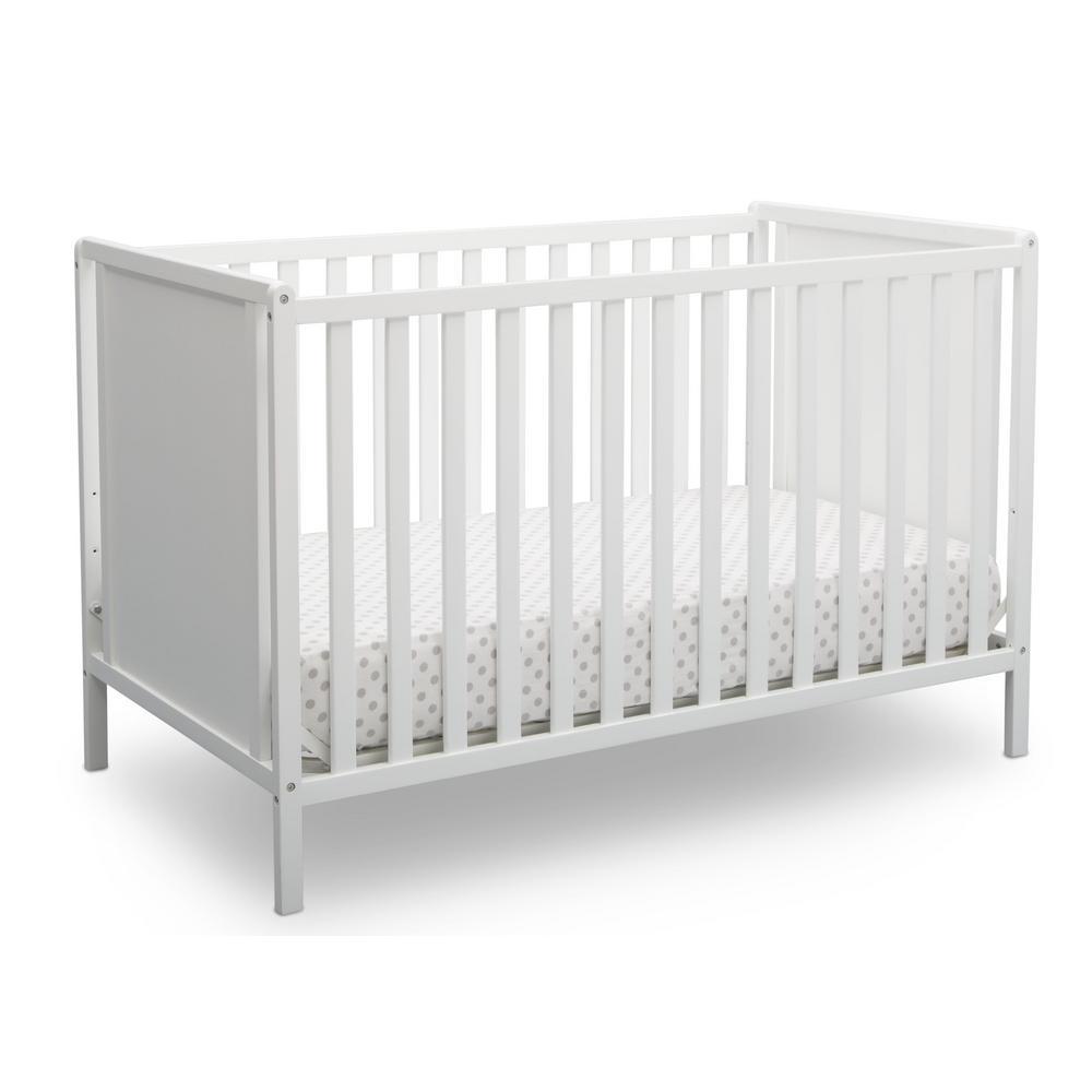 Heartland Classic 4-in-1 Bianca White Convertible Crib