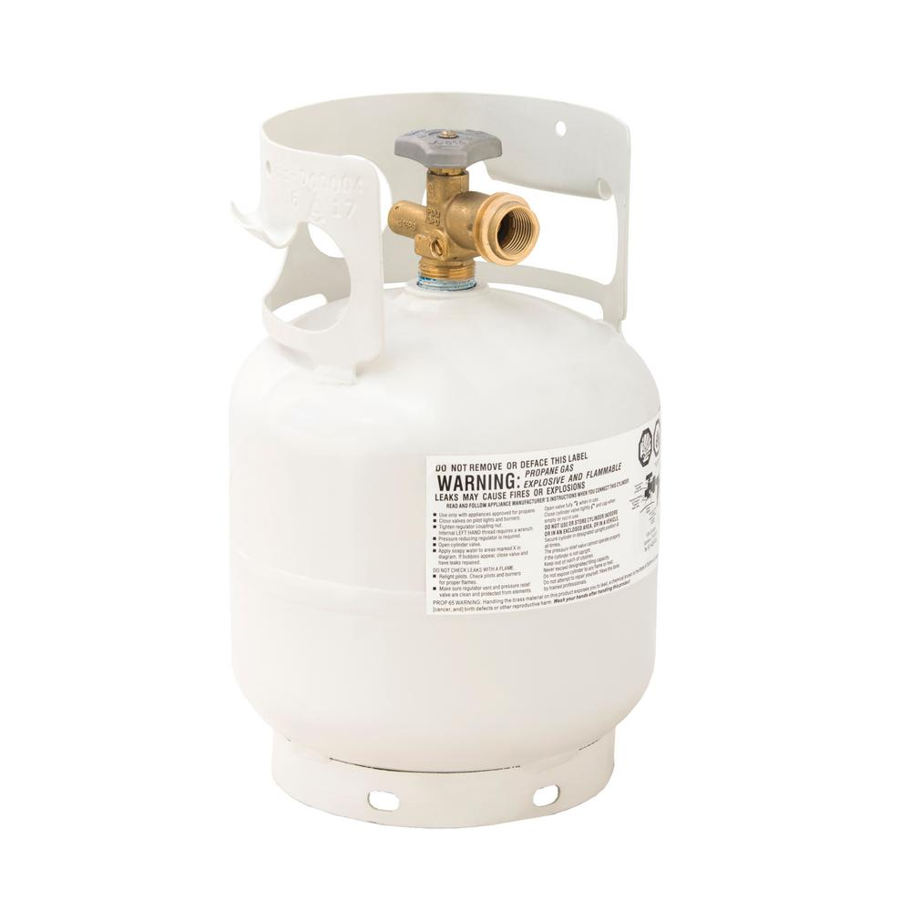 Flame King 5 lb. Empty Propane Cylinder with Overfill Protection Device